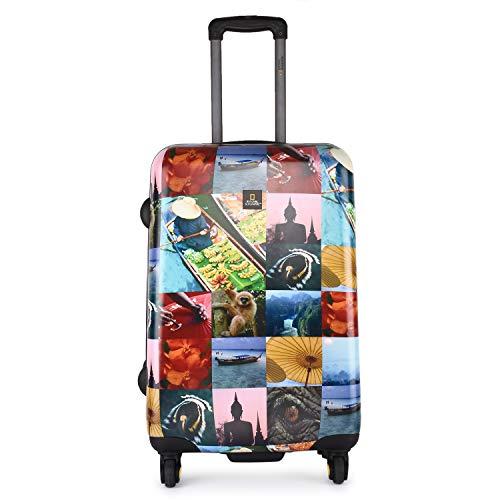 National Geographic Spinner Koffer, 4 Rollen, TSA-Schloss Gr. S, M, L, dreier Set, Ng City Thailand Set Thailand-Druck (Thailand-Druck, L 78 cm)