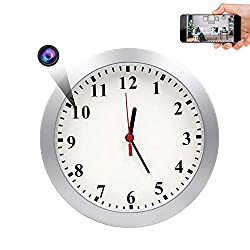 AMCSXH HD 1080P WiFi Hidden Camera Wall Clock
