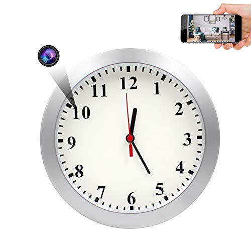 Spy Hidden Wall Clock Camera, AMCSXH HD 1080P WiFi Camera Wall Clock, Security for Home and Office, Nanny Cam/Pet Cam/Wall Clock Cam, Remote-Real Time...