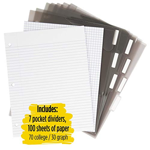 Five Star Flex Hybrid NoteBinder, 1-1/2 Inch Binder with Tabs, Notebook and 3 Ring Binder All-in-One, Assorted Colors, Color Selected For You, 1 Count (29146) Photo #4