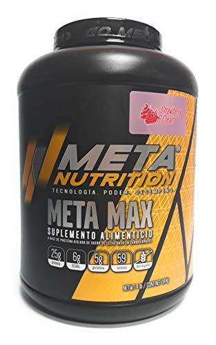 Meta Nutrition, Meta Max 4Lbs, Strawberry and cream (Fresa y Crema).