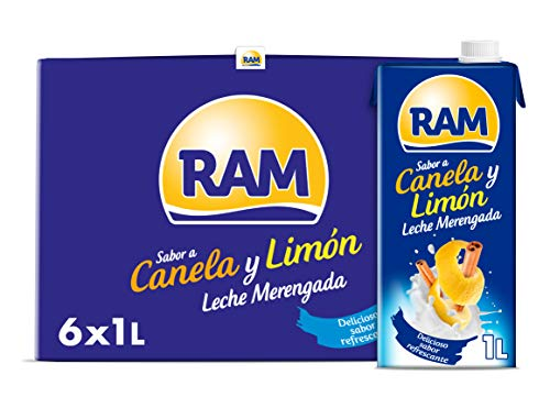 RAM Leche Merengada, Sabor Canela y Limón - 6 x 1 L - Total: 6 L