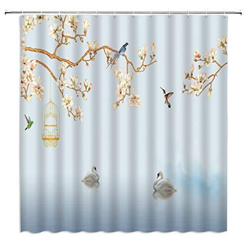 cortinas transparentes flores