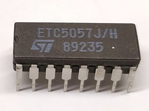 2 Stück ETC5057J | SERIAL INTERFACE CODEC/FILTER | for Subscriber Line Interface Circuit SLIC (PABX) | together with L3235 | STMicroelectronics | CERAMIC DIP16 Gehäuse