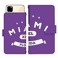 iPhone 12 mini スライド式 手帳型 スマホケース スマホカバー dslide515(E) マイアミ フロリダ アメリカ アイフォントゥエルブミニ アイフォン12ミニ iphone12mini スマートフォン スマートホン 携帯 ケース アイフォントゥエルブミニ アイフォン12ミニ iphone12mini 手帳 ダイアリー フリップ スマフォ カバー