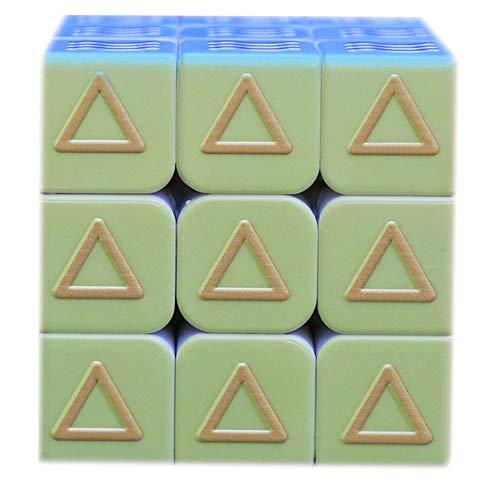 Cubo de la Velocidad, 3x3x3 Cubo mágico Geometría Ciegos Braille Huella Digital Rompecabezas del Cubo 3D Relief Juguetes educativos para niños Adultos
