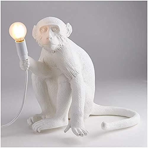 ZDY BOX 14882 aap lamp houder APE 34 X 30 cm hoogte 32 cm hars wit 40 4 x 37 x 33 6 cm
