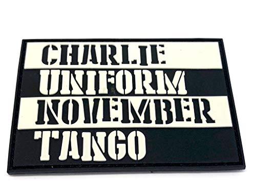Charlie Uniform Noviembre Tango Paintball Airsoft PVC Morale Parche