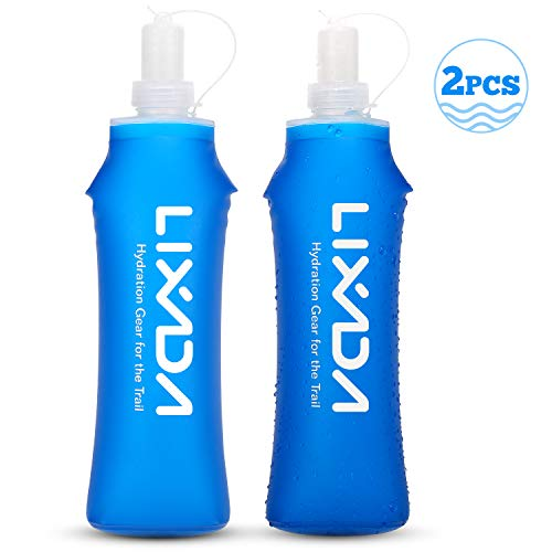 Lixada Botella de Agua Plegable Suave Matraz sin BPA para Correr Senderismo Ciclismo al Aire Libre 500ml