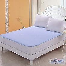HomeStore-YEP Waterproof Elastic Mattress Protector Hypoallergenic Double Bed King Size Cover (Blue)