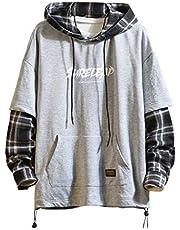 Patchwork Hoodies Mannen Letter Print Streetwear Hoodie Mannen Sweatshirt