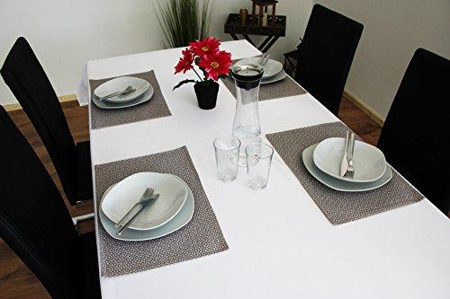 Kamaca Lot de 4 sets de table pour l'extérieur, Polyester, beige, 30 x 45 cm