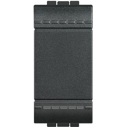 Bticino livinglight - Interruptor 1 polo 16a 1 módulo living antracita