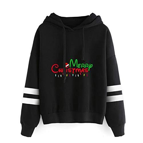 Pullover Dibujos Animados Feliz Navidad Imprimir Outwear la Camiseta de Estilo Occidental Precioso suéter de la Vendimia Thinner Hoodies Ocasionales Suave Coats Unisex Mujeres