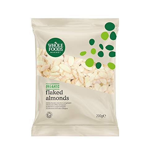 Whole Foods Market - Mandeln, blanchiert und gehobelt, aus biologischer Landwirtschaft, 200 g