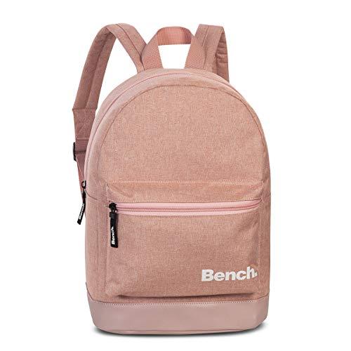 Bench kleiner Damen City Rucksack Frauen Daypack Backpack 64171, Farbe:Altrosa