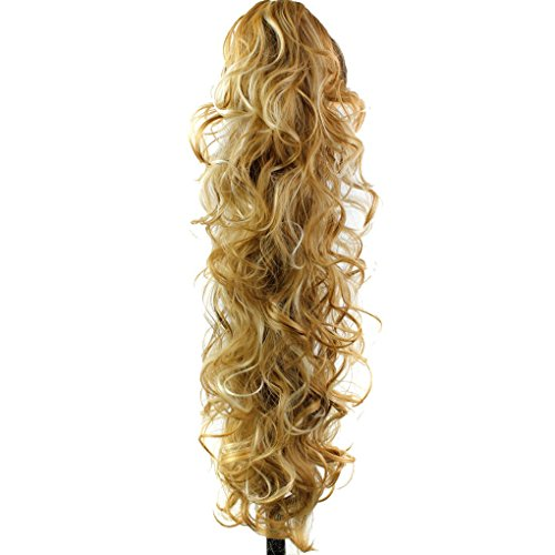 S-ssoy 31 Womens Claw Clips Ponytail Wavy Long Curly in Hair Extensions Voluminous Wigs Curled Hairpieces for Girl Lady Women,P27-613#