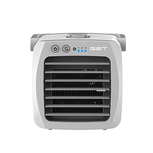 TY&WJ USB Enfriador de Aire Mini Portable para la Oficina Dorm Nightstand Enfriador de Aire Ventilador de Escritorio pequeño-Blanco 13x13x13cm(5x5x5inch)
