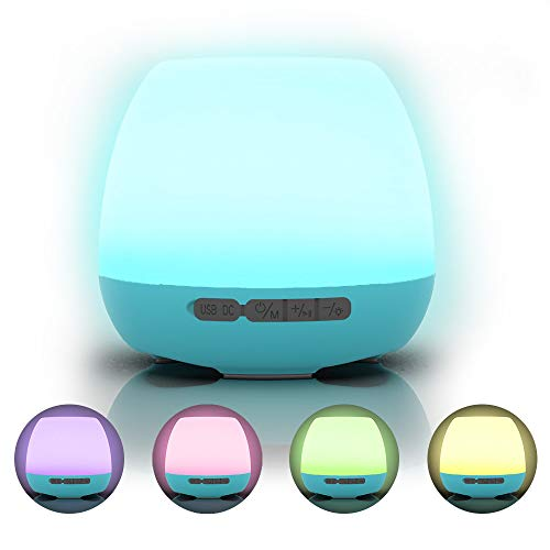 ITOLK Night Light Bluetooth Speaker Music Flower Pot, Portable Dimmable Wireless Stereo Speakers with Touch Control, Colorful Breathing LED, Home Decor Bedside Lamp Best Electronic Gift