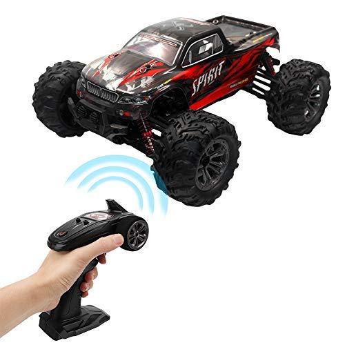 Qinlorgon 2.4 GHz 1: 16 RC Auto telecomandata - Alta velocità Fuoristrada Modello di Veicolo da Corsa per Bambini Giocattolo per Bambini(Rosso)
