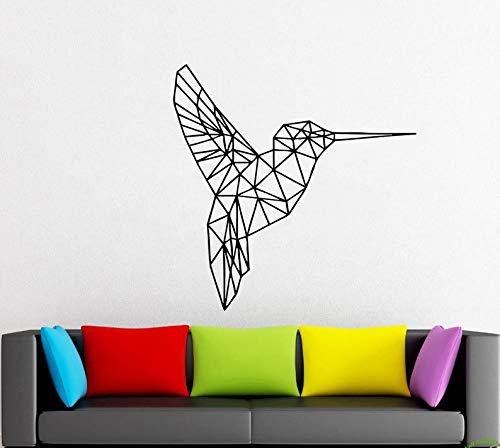 Vogel, Kolibrie Geometrie, Vormen, Dieren, Auto Stickers, Driehoeken, Lijnen Muursticker Handgemaakte t961