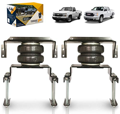 TORQUE Air Bag Suspension Kit for 2007-2018 GM Silverado Sierra 1500 [up to 5,000 lbs. of Load Leveling Capacity] (Replaces Firestone 2430 Ride-Rite) (TR2430)