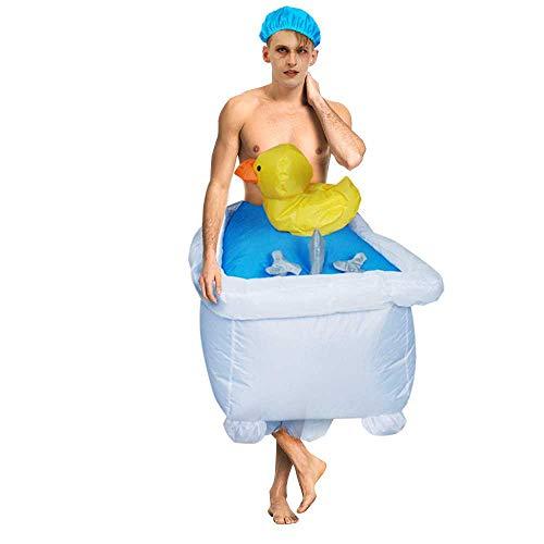 zhuao Ropa Inflable para Bañera para Adultos, Disfraz De Carnaval Divertido Y Divertido, Disfraz De Actividad Festiva para Fiesta Bañera