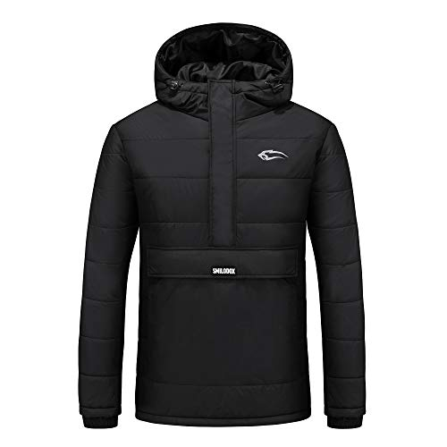 SMILODOX Herren Winterjacke Frozen | Jacket for Sports, Fitness & Free time | Sports Jacket, Farbe:Schwarz, Größe:M
