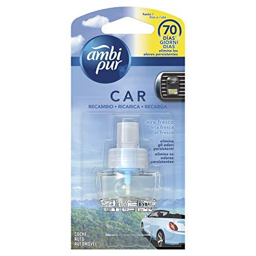 Ambi Pur Car Aire Fresco Recambio para ambientador de clip para coche 7 ml, para eliminar los olores en el coche - 1 Unidad