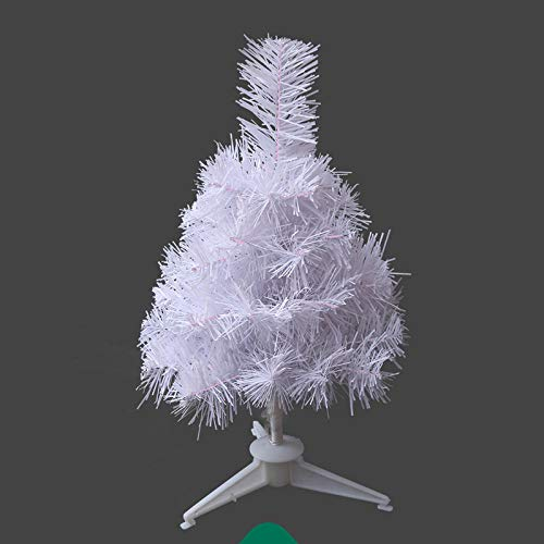 Green Pencil Slim ChristmasTree,White Christmas tree, luxurious encrypted pine tree-60cm,PVC Material Artificial Christmas Tree