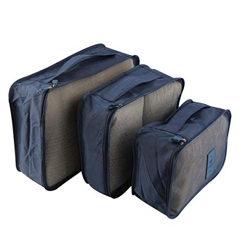 6 pcs/set packing bags compression for suitcase and backpack with packing bag, more space in the suitcase and backpack, clothes pockets compression for your hiking equipment, black.