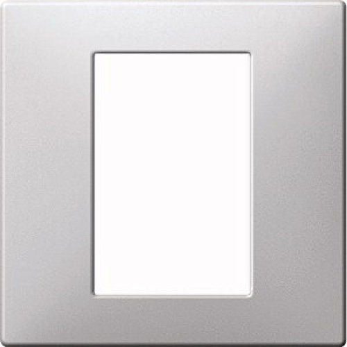 Merten MEG5775-4060 Zentralpl. f. Univers. Temperaturregl.-Eins. m. Touch-Display, aluminium,Sys.Fl.