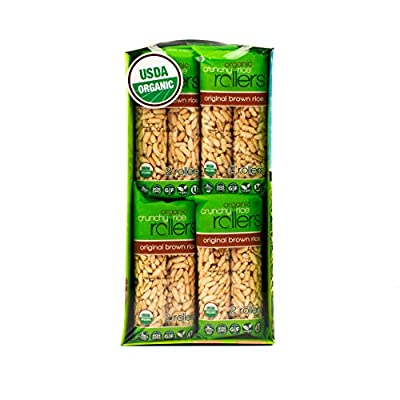 Crunchy Rice Rollers – Organic Brown Rice, 0.9 oz (16 Packs of 2 Rollers)