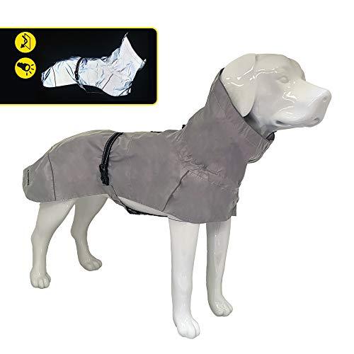 Croci Hiking Regenmantel für Hunde, wasserdicht, reflektierend, maximale Sichtbarkeit, thermoregulierendes Futter, Größe 50 cm - 380 g