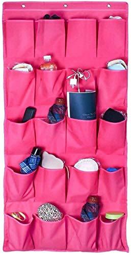 Ranuras de zapato ajustables Organizador Bastidore Organizador de zapatos para colgar sobre la puerta de 20 bolsillo de bolsillo Rack Organizador de zapatos Bolsa de suspensión de la perilla de la per