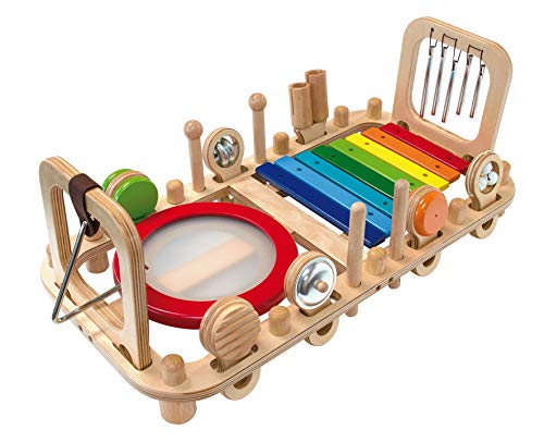 Bartl I\'m Toy 111870 Wandspiel Musikstation Motorikspiel für Kinderzimmer, Wartezimmer, Kinderkrippe