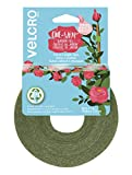 VELCRO Brand VEL-30089-AMS Wide Garden Ties for Strong Roses Shrubs and Large Heavy Plants in Need of Extra Support, 1 in x 35 ft, Green - Recycled Plastic