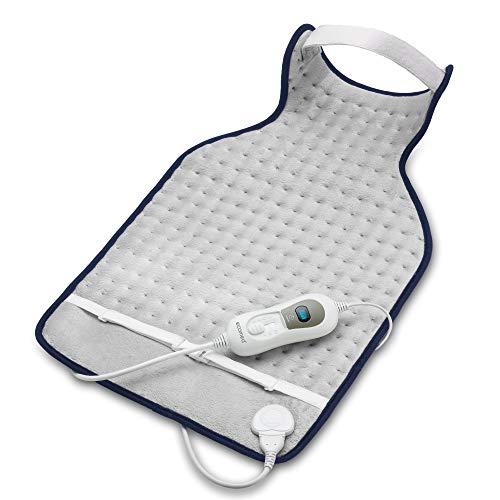ecomed HP-46E Nackenheizkissen, Rückenheizkissen mit 3 Temperaturstufen, Wärmekissen mit Überhitzungsschutz, Abschaltautomatik, waschbar