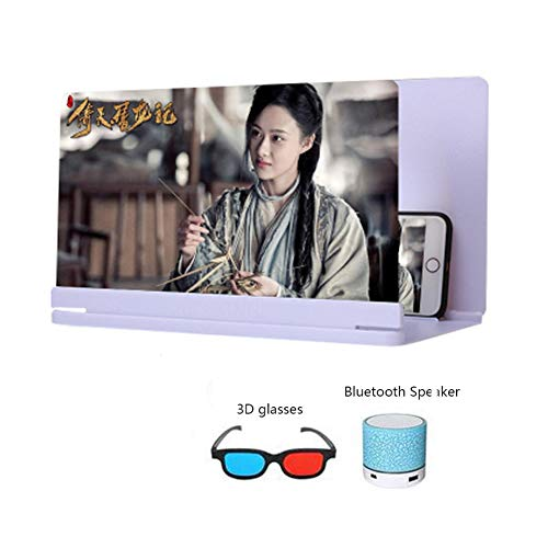XYHWZY 26 inch Phone Screen Magnifier 3D HD Zooms 3-4 Times Anti-Blue Light Protect Eyes Movie Video Amplifier Enlarger Screen Suitable for Mobile Phones Tablets