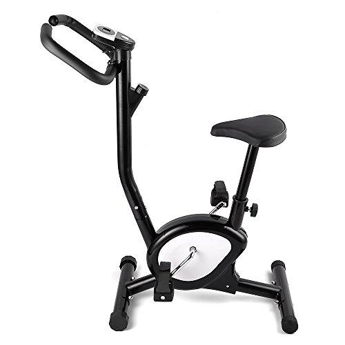 AGM sport Exercise Bike, bici all' interno esercizio fitness verticale Cycling training con semplice LED display e otto velocità regolamento di esercizio intensità Fit per adulti in casa/ufficio/uso della palestra