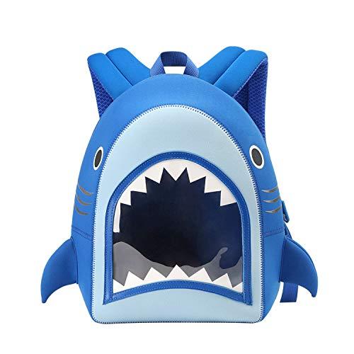 NOHOO Toddler Backpack Kids Backpack Cute Animal Schoolbag Waterproof Ocean Backpack for Baby Boys Girls Age 3 to 6 (Shark)