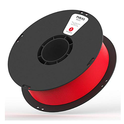 3D Printer Filament 1.75mm, PVB K5 Can Be Polished Modified Material 1kg, Easy to Polish, Soluble in Ethanol-Red