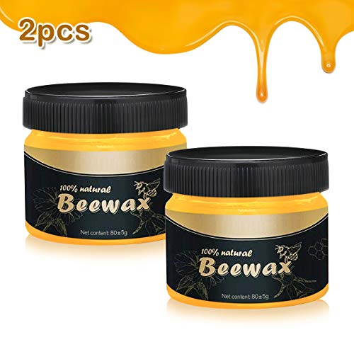 LIUMY Wood Seasoning Beewax 2PCS,Traditional Beeswax Polish for Wood and Furniture,Natural beeswax for Wood Cleaner and Polishing,Multipurpose Natural Beewax for Furniture to Beautify & Protect