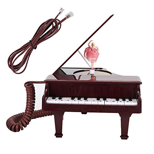 Diyeeni vaste telefoons, klassieke pianostijl, korte muziekfunctie, selectie/verwijderen/keuze herhaling