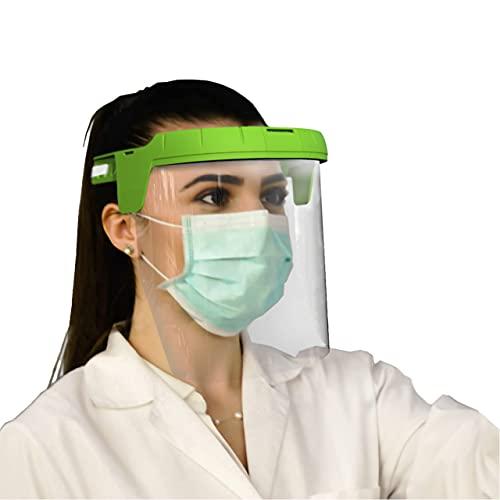 Weetbe - Pantalla Protectora Facial, Certificación EPI Categoría II, Solidez incrementada, Antisalpicadura, Antivaho, Visor de Policarbonato Grado Óptico 1, Campo Uso 3.