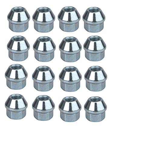 Tusk OEM Style Tapered Chrome Lug Nut 10mm x 1.25mm Thread Pitch (16 Pack) for Honda Rancher 420 4x4 DCT 2014-2018