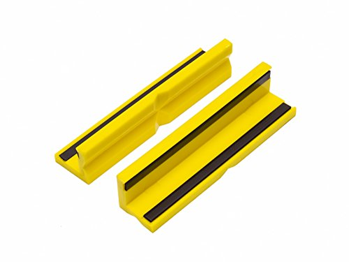 WABECO Kunststoff Schutzbacken Schonbacken 150 mm Magnetisch für Werkbank Schraubstock