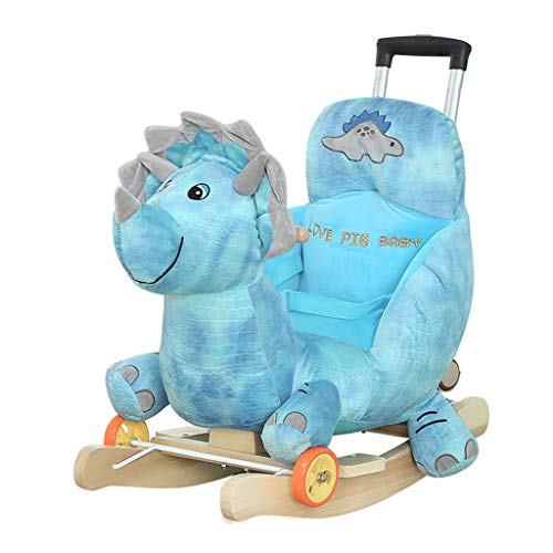 Shake The Small Carriage Cute Kids Rocking Chair Jouets pour Enfants 1-2 Ans Cadeau avec De La Musique Bascules HUYP (Color : A)