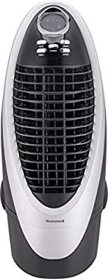 Honeywell CS10XE 21 Pt. Indoor Portable Evaporative Air Cooler with Remote Control, Silver/Grey