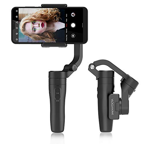 FeiyuTech VLOG Pocket faltbares Smartphone kardanisch, direkt ohne Auswuchten verwenden, Gimbal Stabilizer für iPhone und Android-Handys, Samsung/Huawei, Benötigt iOS 9.0 / Android 6.0 ode